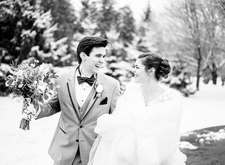 TAYLOR & GEORGE WINTER WEDDING
