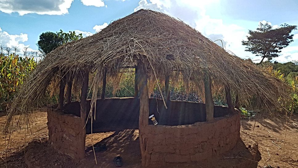 Zambian Family Farm Hut with a Barista Cup