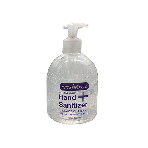 Alcohol Gel Sanitizer 500ml / 16oz