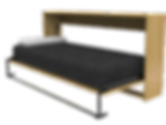 Cama rebatible horizontal