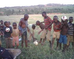 Boys love to play football