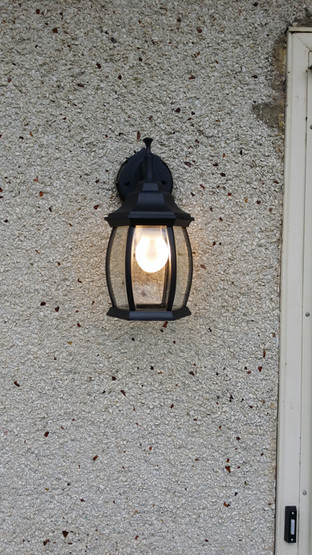 Outside Door Light Upgraded
