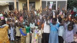 Lwengo Needy Children get Pencils