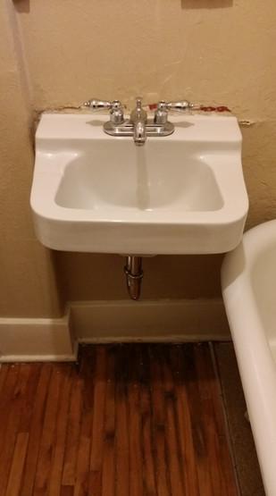 Wallmount Sink Upgrade Time