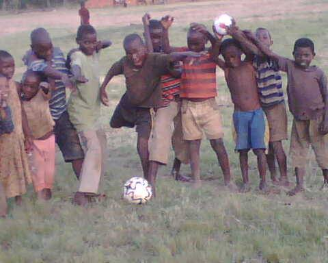 Football time for Lwengo childrchien