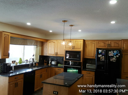 Sunshine Ceiling Replaced & Upgraded By Install Of Slim LED Lights