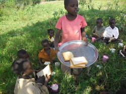 Lwengo Needy children at Lunch