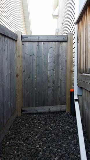Wood Gate Sticks badly