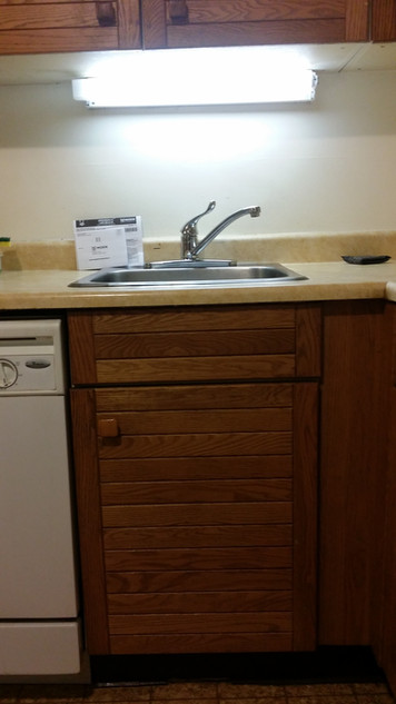 Goodbye 2 Handle Kitchen Faucet Hello Single Handle Moen