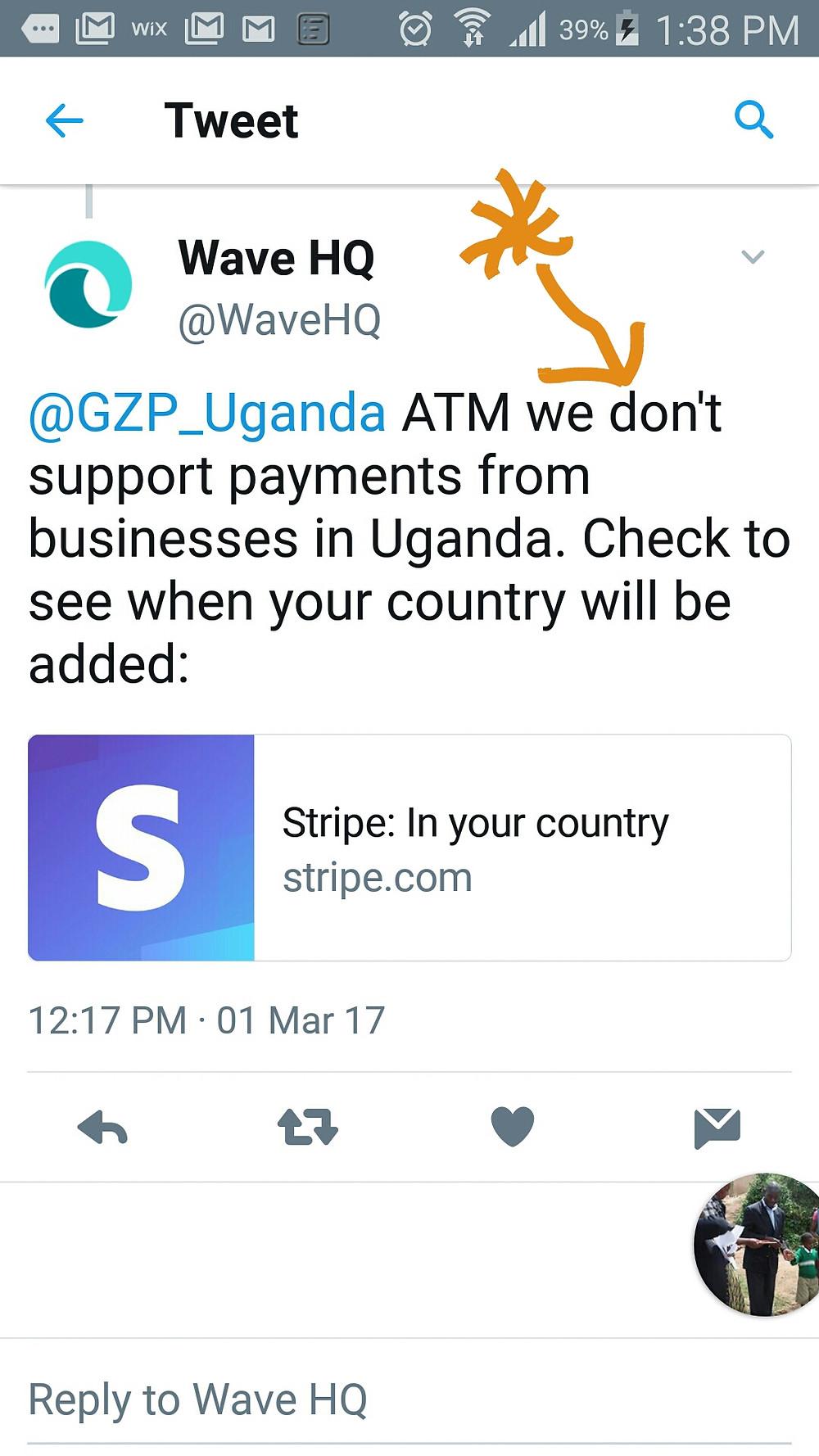 Mobile Screen Grab WaveApps no support Uganda