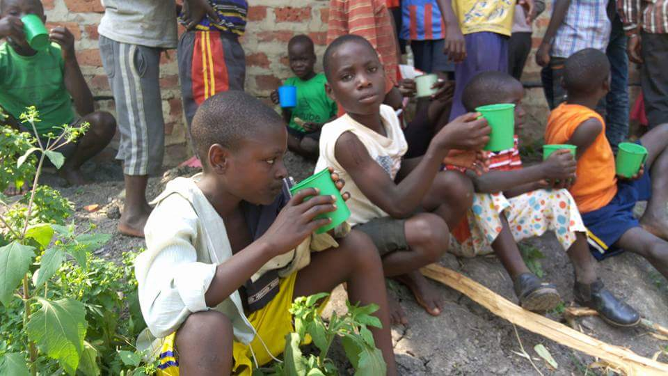 Children Having Refreshments