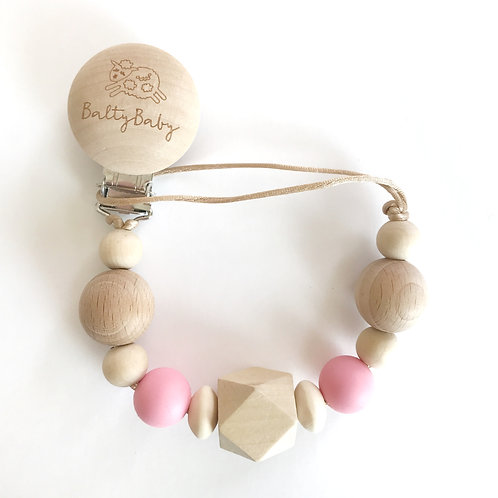 BB Clip  + Teether - Pink