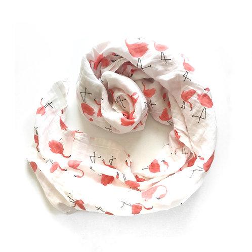 Organic Muslin Blanket - Flamingo
