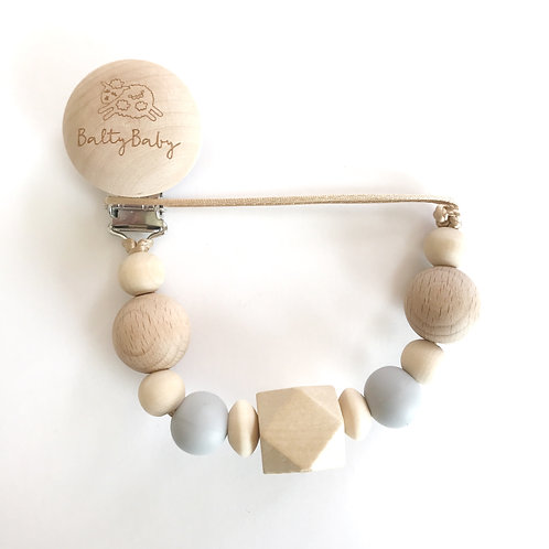 BB Clip & Teether - Gray