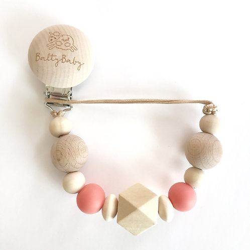 BB Clip  + Teether - Coral