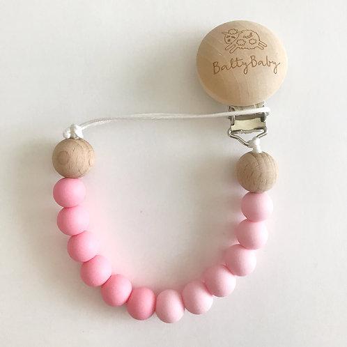 Color Block BB Clip - Pink