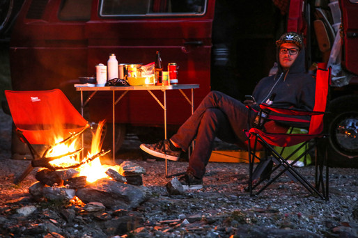 Camping with Bonfire