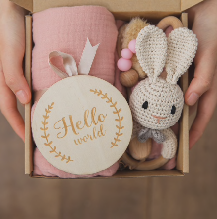 New Baby Gift Set in Pink