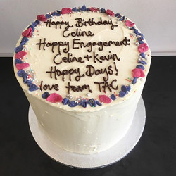 Mutli- messaged mega cake #buttercreamcake #lastminute #chocolate #vanilla