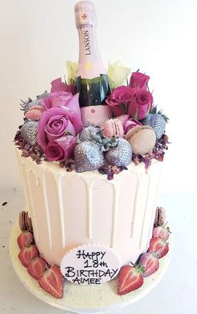 Pink Champagne Drip Cake