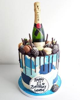 Blue Champagne Cake
