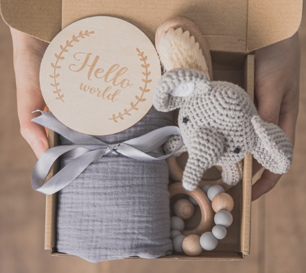 New Baby Gift Set in Grey
