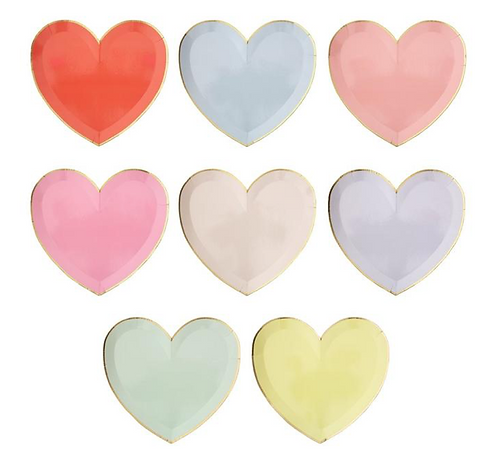 Love Heart Party Plates