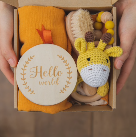 New Baby Gift Set in Yellow