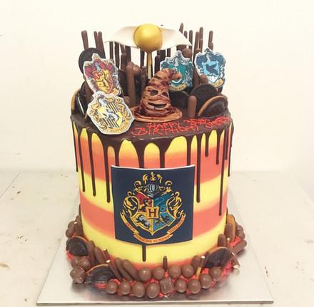 Harry Potter Themed Drip Cake