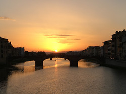The Arno at Sunset, 2016