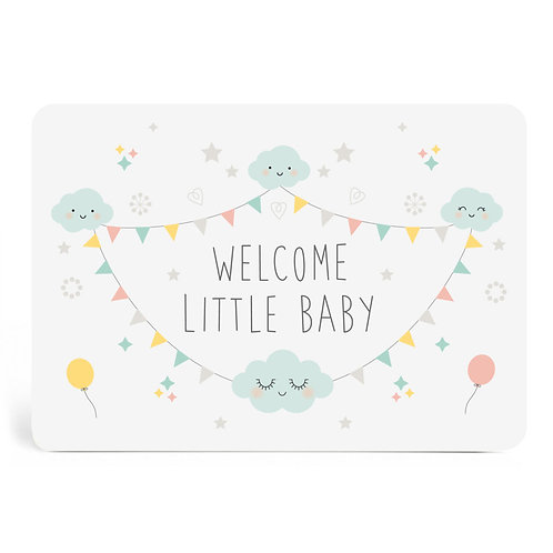 "Carte ""Welcome Little Baby"""