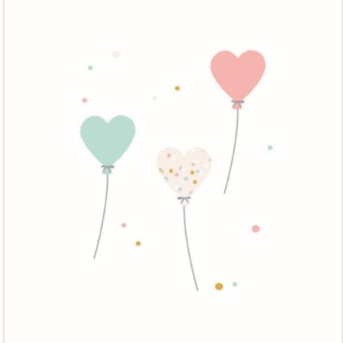 """Lange """"Ballons coeur"""""""