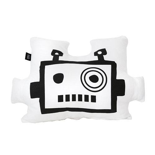 """Coussin """"Tête de Robot"""" Blanc"""
