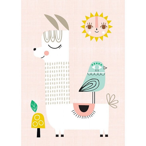 "Affiche ""Sunshine Lama"""
