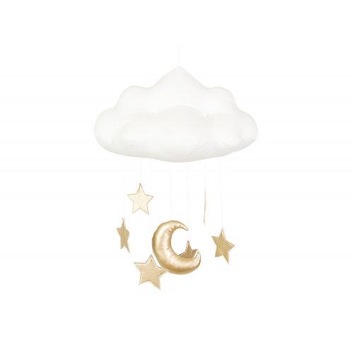 Mobiles nuages avec étoiles dorées