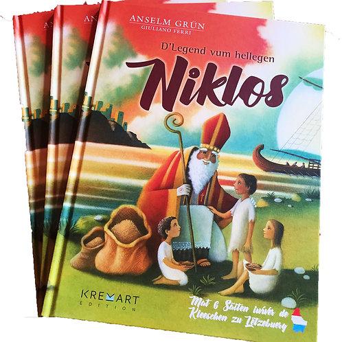 """Livre """"D'Legend vum hellegen Niklos"""""""