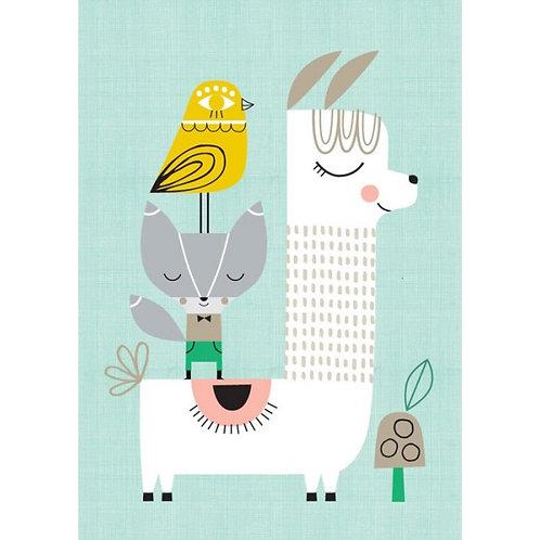"""Affiche """"Lama and Friends"""""""
