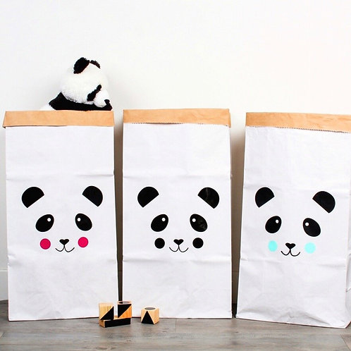 """Grand Sac de rangement """"Panda Rose"""""""
