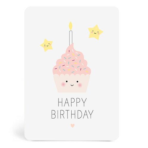 "Carte ""Happy Birthday Gâteau"""