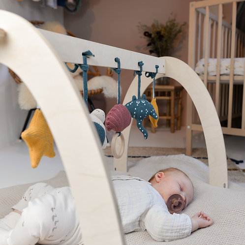 Baby Gym en bois avec Sammy, l'étoile de Mer