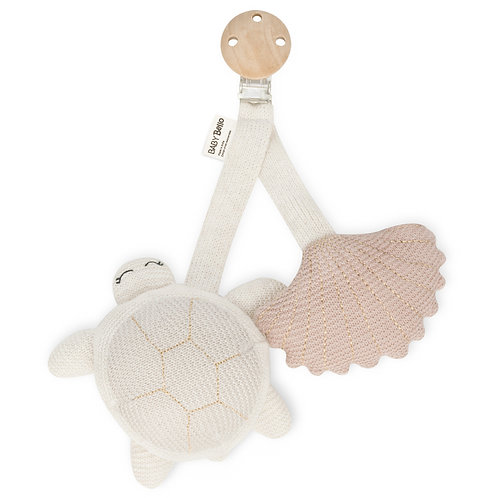 Attache Tily, la tortue & son coquillage rose