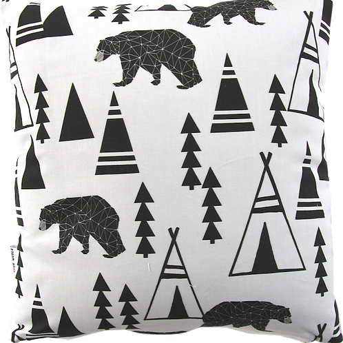 Coussin Ours & Tipis