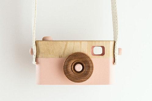 L'appareil photovintage en bois - Rose