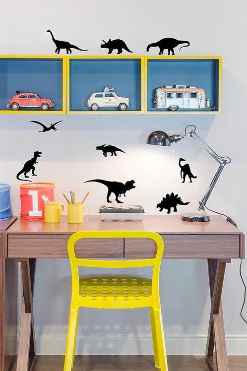 Sticker Dinosaure noir