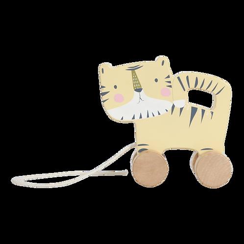 jouet à tirer en bois - Tigre
