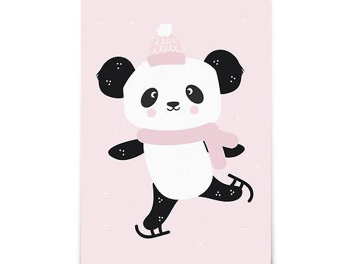 """Carte """"Panda en hiver"""""""