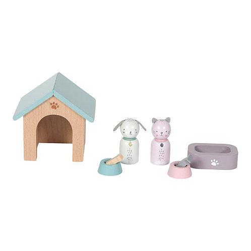 Le set d'animaux domestiques de la maison de poupées