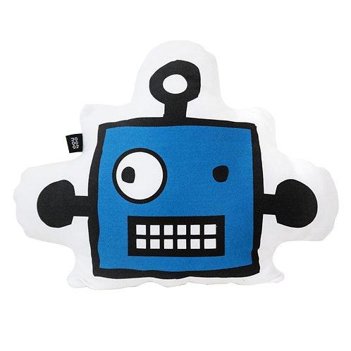 "Coussin ""Tête de Robot"" Bleu"