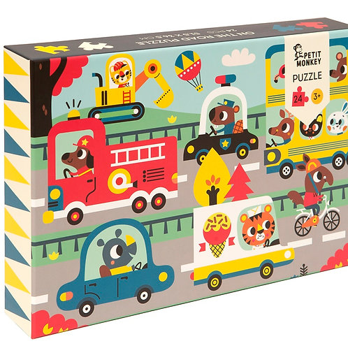 """On the road"" Puzzle 24 pcs / 3 ans"