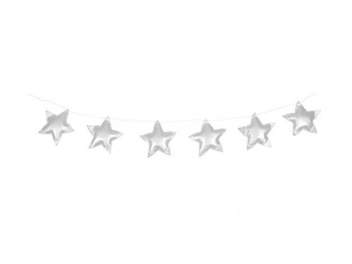 Guirlande d'étoiles argentées